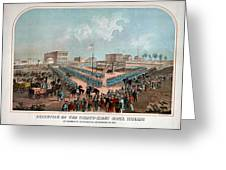 Execution Of The Thirty Eight Sioux Indians Greeting Card