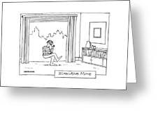 Executive Mime Greeting Card