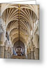 Exeter Cathedral And Organ Greeting Card