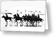 Exhibition Platoon Of The 11th U.s. Cavalry On Del Monte Beach Monterey California 1935 Greeting Card