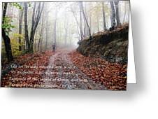 Into Mist Greeting Card