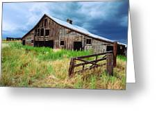 Exit 166 Barn Greeting Card