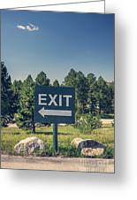 Exit Sign Greeting Card