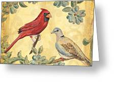Exotic Bird Floral And Vine 2 Greeting Card