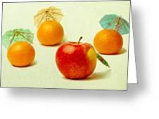 Exotic Fruit - Square Greeting Card by Alexander Senin