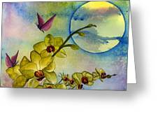 Exotic Moon Greeting Card