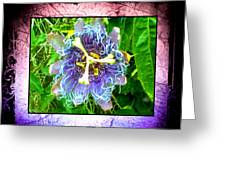 Exotic Strange Flower Greeting Card