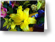Exotic Yellow Greeting Card