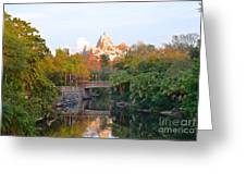 Expedition Everest At Sunset Greeting Card