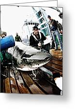 Expedition Great White Crew Conducts Greeting Card