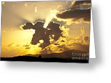 Exploding Cloud Greeting Card