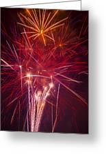 Exploding Fireworks Greeting Card
