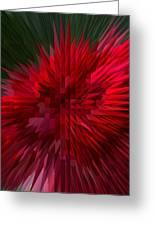 Exploding Rose Greeting Card