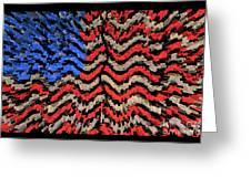 Exploding With Patriotism Greeting Card by John Farnan