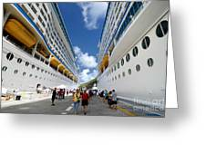 Explorer Of The Seas And Adventure Of The Seas Greeting Card