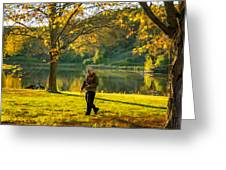 Exploring Autumn Light Greeting Card by Steve Harrington