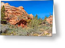 Exploring The Upper Plateau Of Zion Greeting Card