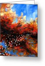 Explosion In The Sky Greeting Card