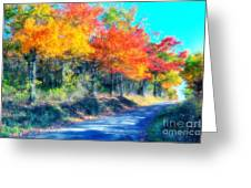 Explosion Of Color - Blue Ridge Mountains I Greeting Card