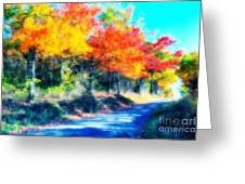Explosion Of Color - Blue Ridge Mountains II Greeting Card