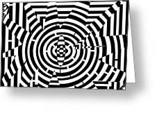 Explosive Pattern Maze  Greeting Card
