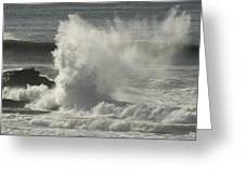 Explosive Wave At Mavericks Point Greeting Card