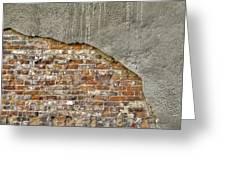 Exposed Brick Greeting Card