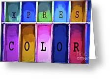 Express Color Greeting Card