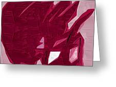 Expression Of Red Greeting Card