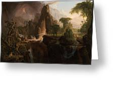 Expulsion From The Garden Of Eden Greeting Card