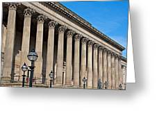 Exterior Of St Georges Hall Liverpool Uk Greeting Card