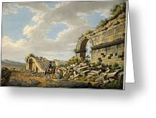 Exterior Of The Ruined Roman Theatre Greeting Card