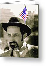 Extra With Flag In Hat The Great White Hope Set Globe Arizona 1969-2008 Greeting Card