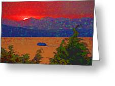 Extreme Sunset Greeting Card