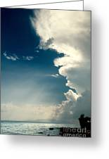 Extreme Weather On Its Way Greeting Card