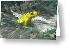 Extrude Yellow Frog Greeting Card