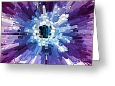 Extrusion Abstract Blue Purple Plum Greeting Card
