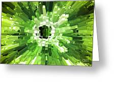 Extrusion Abstract Lime Green Greeting Card