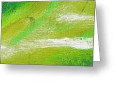 Exuberant Green Greeting Card