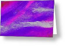 Exuberant Pink Blue Greeting Card