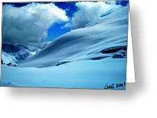 Eye Catcher In Snow Greeting Card