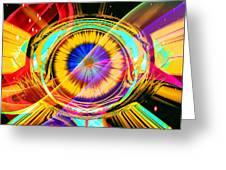 Eye Of Horus Greeting Card by Eleni Mac Synodinos