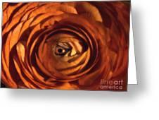 Eye Of The Bloom Greeting Card