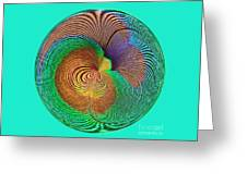Eye Of The Peacock Orb Greeting Card
