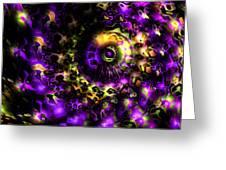 Eye Of The Swirling Dream Greeting Card