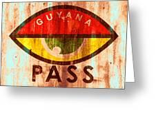 Eye Pass Greeting Card