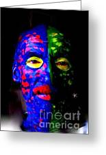 Eye See Colors Mardi Gras Hand Painted Face Greeting Card