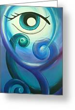 Eye Triple Koru Greeting Card
