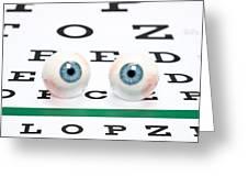 Eyeballs On Chart Greeting Card