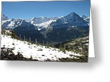 Eyeful Of The Eiger Greeting Card